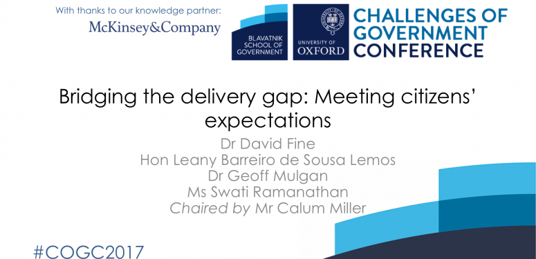 Bridging the delivery gap: Meeting citizens' expectations
