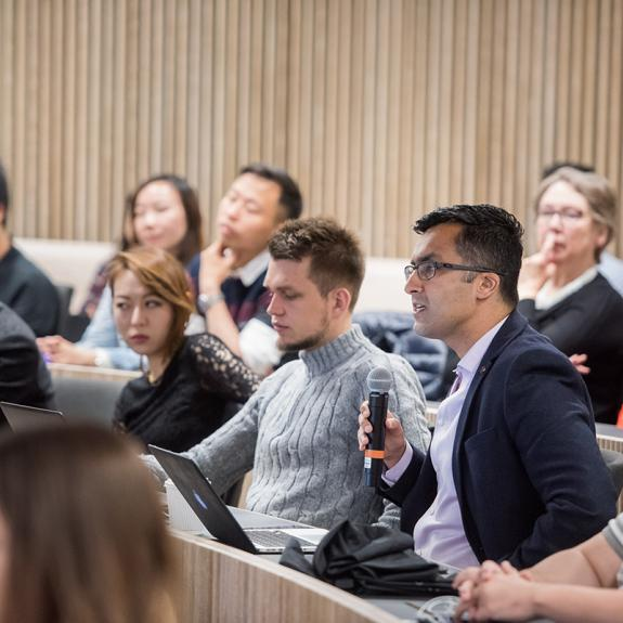 MPP students during a talk at the Blavatnik School