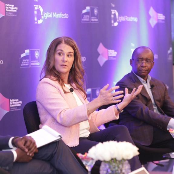 Melinda Gates and Strive Masiwiya