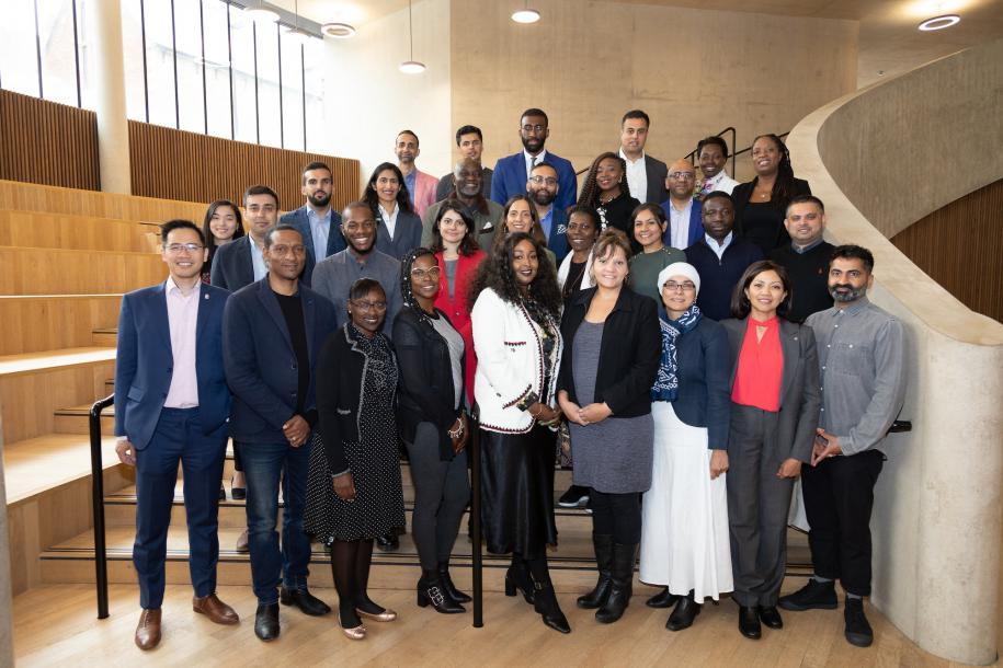 Pathway to success participants posing for a photo in the Blavatnik School
